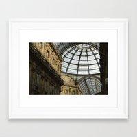 milan Framed Art Prints featuring Milan by Liz Scheiner