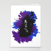 saxophone Stationery Cards featuring Saxophone Jive by Aaron Gonzalez