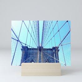 BROOKLYN BRIDGE - LIGHTER Mini Art Print