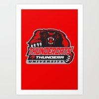 thundercats Art Prints featuring  thundera university by Buby87