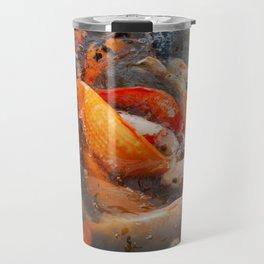 Koi Carp Food Frenzy Travel Mug