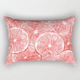Watercolor grapefruit slices pattern Rectangular Pillow
