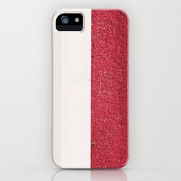 White Red iPhone Case