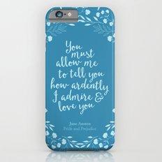 Jane Austen Pride and Prejudice Quote Slim Case iPhone 6
