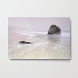 Garrapata Beach Fog Metal Print
