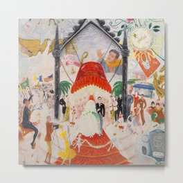 """Florine Stettheimer """"The Cathedrals of Fifth Avenue"""" Metal Print"""
