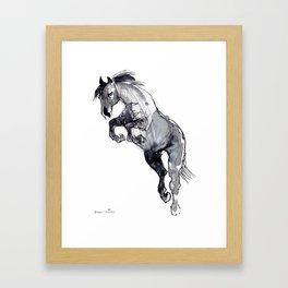 Horse (Jump) Framed Art Print