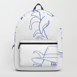 Detective Orca Killer Whale Drawing Backpack