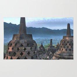 Borobudur Temple  Morning Serenade Rug