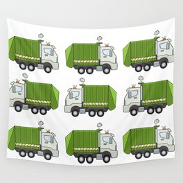 Garbage Truck Wall Tapestry
