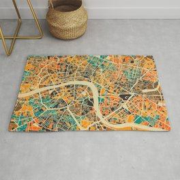 London Mosaic Map #3 Rug