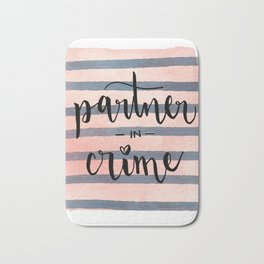 Partner in Crime Bath Mat