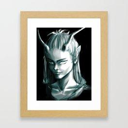 Green Creature Framed Art Print