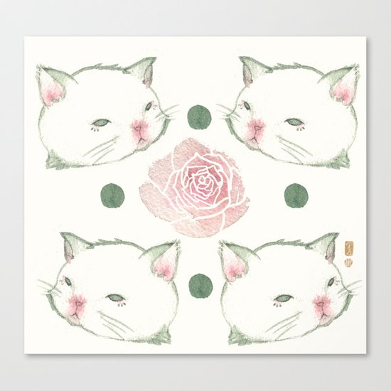 Cat's Waltz 고양이 왈츠 Canvas Print