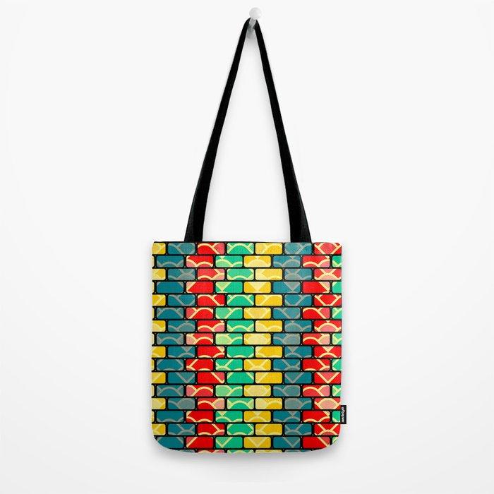 Colorful bricks Tote Bag