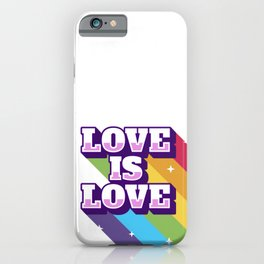 Love is love,  Lgbt lovely clothing. iPhone Case