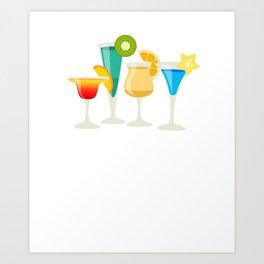 Just Add Liquor Mixed Drinks Partying Bartender T-Shirt Art Print