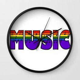 Rainbow Music Wall Clock