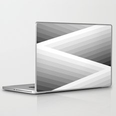 Grey Stripes Laptop & iPad Skin
