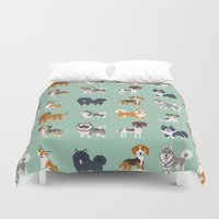 nordic Duvet Covers featuring NORDIC DOGS by DoggieDrawings