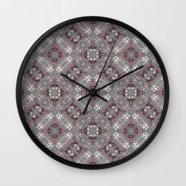 Grid with relaxed circular shapes Wall Clock