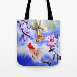 Golden Fishes Tote Bag