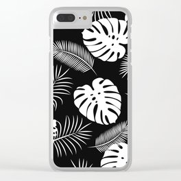 TROPICAL LEAVES 6 Clear iPhone Case