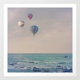 Balloons at Sea Art Print