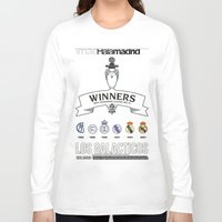 madrid Long Sleeve T-shirts featuring REAL MADRID by sokteulu