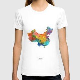 China Watercolor Map T-shirt