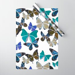 The Blue Butterfies Wrapping Paper