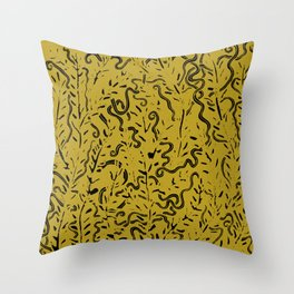 Ancient Snakes Throw Pillow