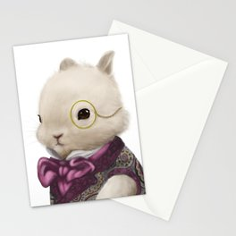 Dapper Bunny with Monocle Stationery Cards