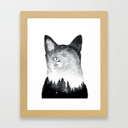 Spacekitten Framed Art Print