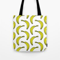 banana Tote Bags featuring BANANA by Clove