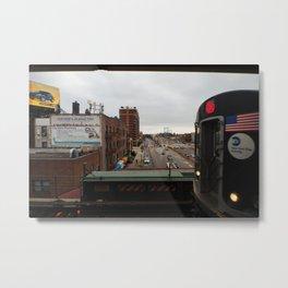 New York Subway Metal Print