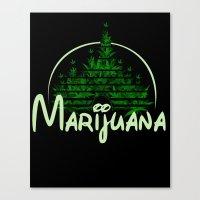 marijuana Canvas Prints featuring Marijuana  by FandomizedRose