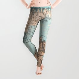 Chart of the World's Mountains and Rivers - Geographicus Leggings