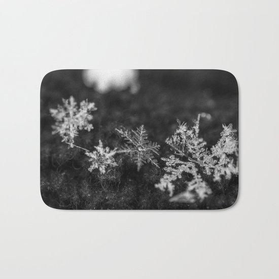 Clump of snowflakes Bath Mat