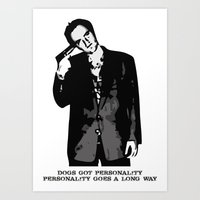 tarantino Art Prints featuring TARANTINO by Rocky Rock