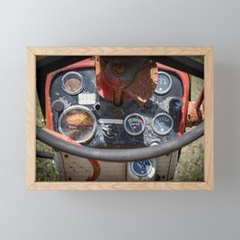 Farmall 560 Operator Station Red Tractor Dashboard Gages  Framed Mini Art Print