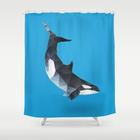 killer whale Shower Curtains featuring Killer Whale. by Diana D'Achille