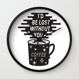 For the love of coffee Wall Clock