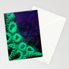 Glowing anemone family Stationery Cards