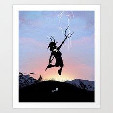 Loki Kid Art Print