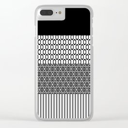 Black white block Nordic Clear iPhone Case