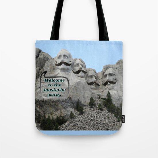Mount Mustache Tote Bag