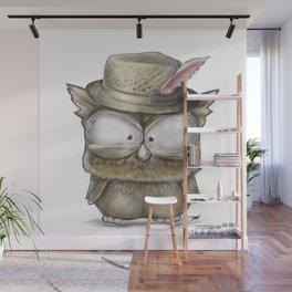 I'll show you a Hoot! - Angry Owl Illustration - Kawaii Wall Mural