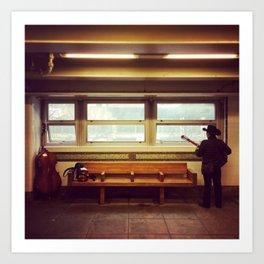 New York Subway Musician Art Print