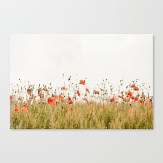 Poppies Coquelicots Canvas Print